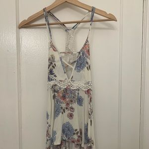 Flowery, Lacey tank top